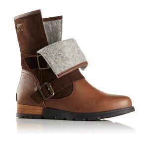 Sorel- major moto leather brown boots